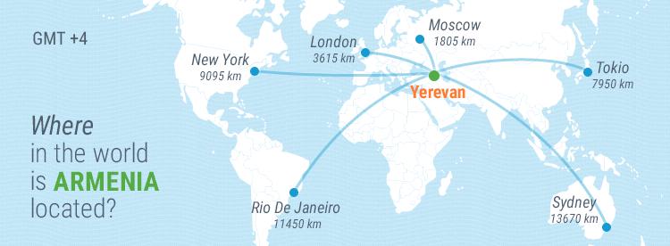 Armenia Travel Guide: Armenia on the World Map