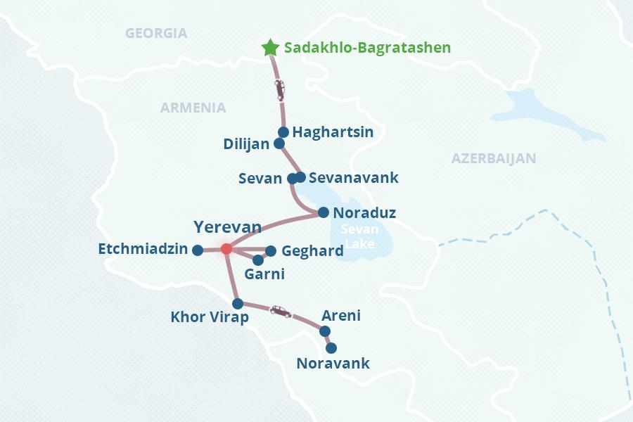 Armenia Tour From Georgia Am - Yerevan georgia map