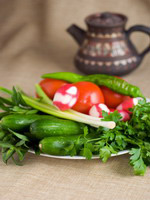 Armenian cuisine - fresh vegetables assorti