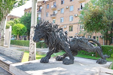 Lion sculpture, Yerevan, Armenia