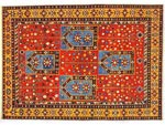 Azerbaijani carpets: Carpet named Agadzhly. Wool. Worsted. Beginning of 19th century. Shirvan group