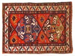 Azerbaijani carpets: Carpet named Malibayli. Wool. Worsted. The end of the 19th century. Garabakh group