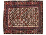 Azerbaijani carpets: Carpet named Gabystan. Wool. Worsted. Beggining of 19th century. Shirvan group