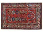 Azerbaijani carpets: Carpet named Namazlyg. Wool. Worsted. 19th century. Shirvan group