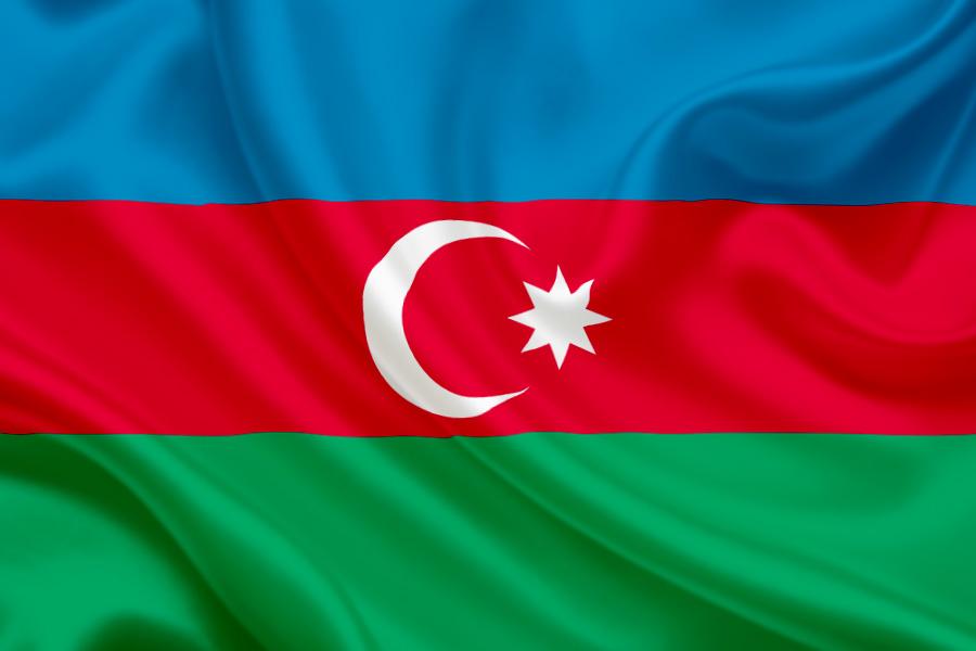 National flag of azerbaijan for Azeri cuisine caledonian road