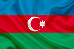 National flag of Azerbaijan