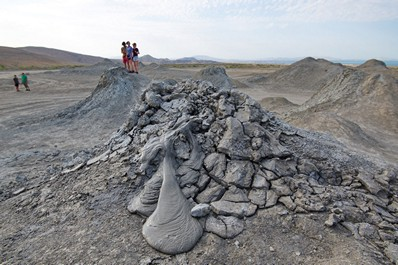 Mud Volcanoes in Gobustan, Azerbaijan