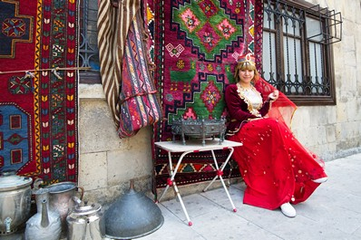 Azeri Girl in Icheri Sheher, the Old City