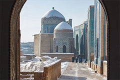 Best time to visit Central Asia. Winter