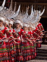 Dance of the Miao tribe girls, China