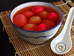 Chinese Cuisine: sweet dumplings: traditional dish cooked for the New Year in many Asian countries, including China