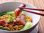 Chinese Cuisine: Peking duck and noodle soup