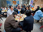 Chinese Cuisine: Lunch at one of the outdoor cafes in the central district of Hong Kong