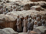 History of China: Terracotta Warriors at the mausoleum of Emperor Qin Shi Huangdi