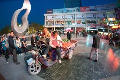 Shopping mall area in Kashgar