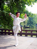The young man, showing one of the elements of Chinese Kung Fu, China