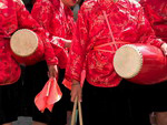 Chinese drummers on the traditional holiday