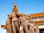 New history of China: The monument in front of the mausoleum of Mao Zedong in Tiananmen Square