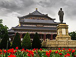New history of China: Memorial Hall and the statue of Sun Yat-sen