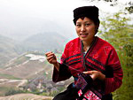 Population of China: Yao girl in traditional clothes