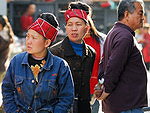 Population of China: Beijing local people wearing traditional headgear