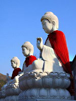 Buddha sculptures in the open air, the North China
