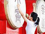 Китайские традиции: музыкальный инструмент- китайский барабан при храме