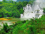 Waterfall Tik-Tin. During the season of rains the width of the waterfall reaches over 208 meters