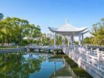 Sun Island Park on a clear day, Harbin city, Heilongjiang Province, China