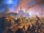 """Assault of the  Akhaltskikh fortress on 15 August 1828"", Yan Sukhodolsky, 1938 y."
