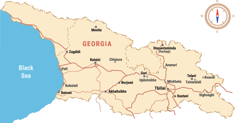Georgia Travel Map