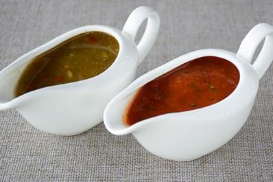 Georgian cuisine - adjika, tkemali and satsebeli sauces