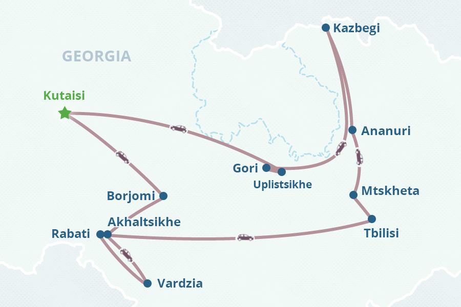 6day Georgia Tour from Kutaisi