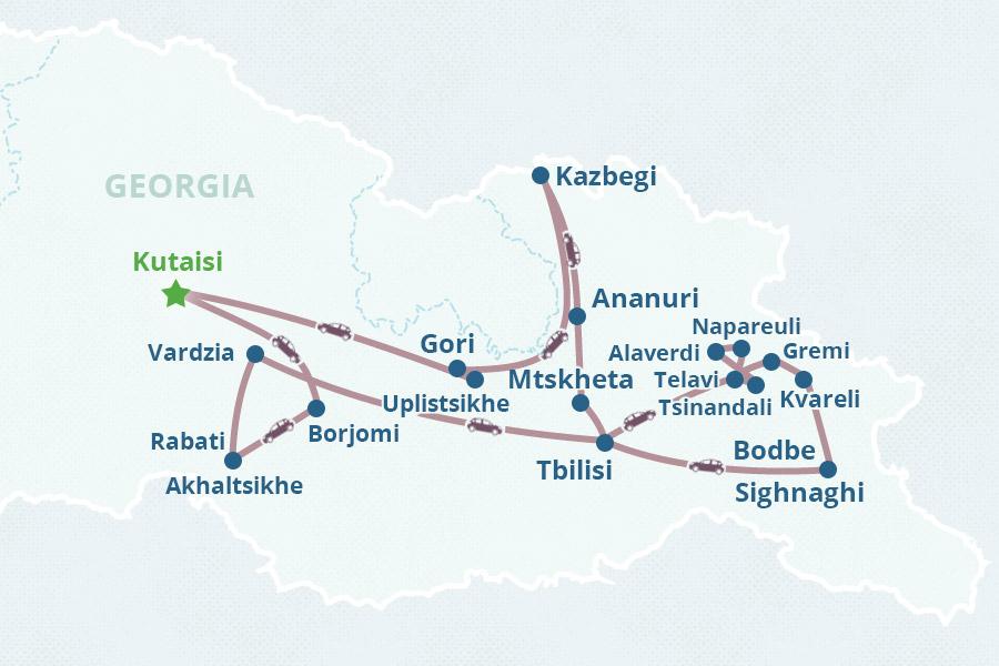 8day Georgia tour from Kutaisi