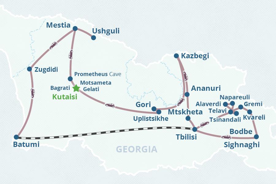11day Georgia Tour from Kutaisi
