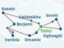 Dmanisi Georgia Map.Silk Road In Georgia