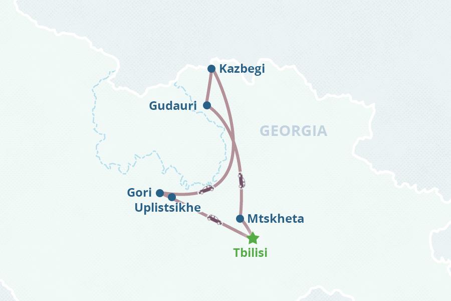 Fourday Georgia Tour - Georgia kazbegi map