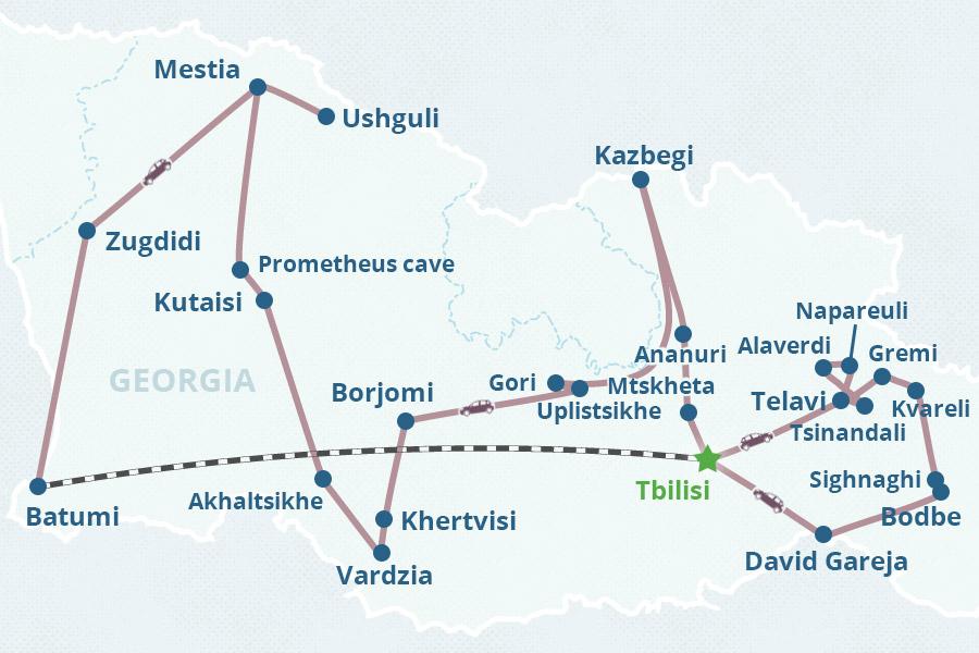 Map Of Georgia Hotels.Top 10 Punto Medio Noticias Mtskheta Georgia Hotels