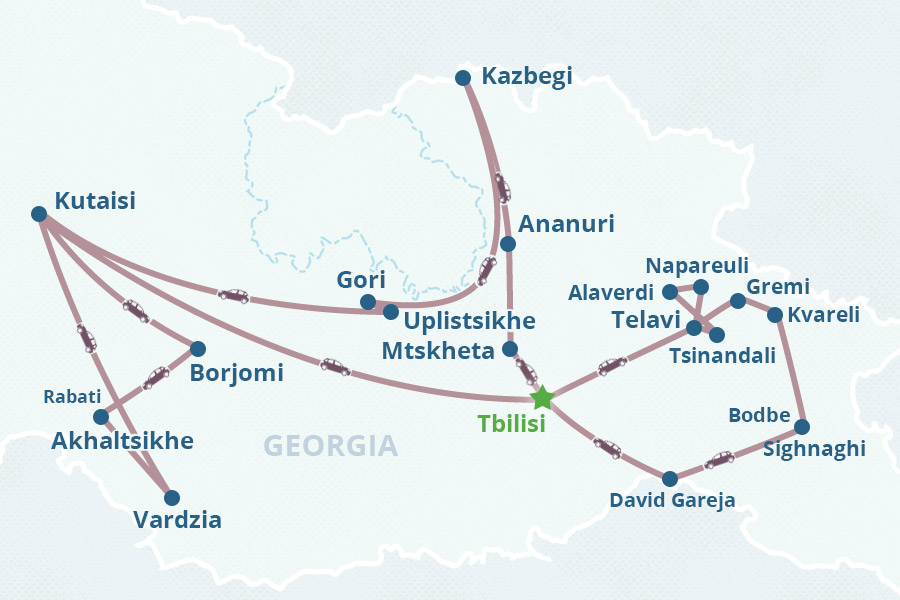 Tour To The Soul Of Georgia - Georgia kakheti map