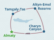 Altyn-Emel Reserve and Charyn Canyon Tour