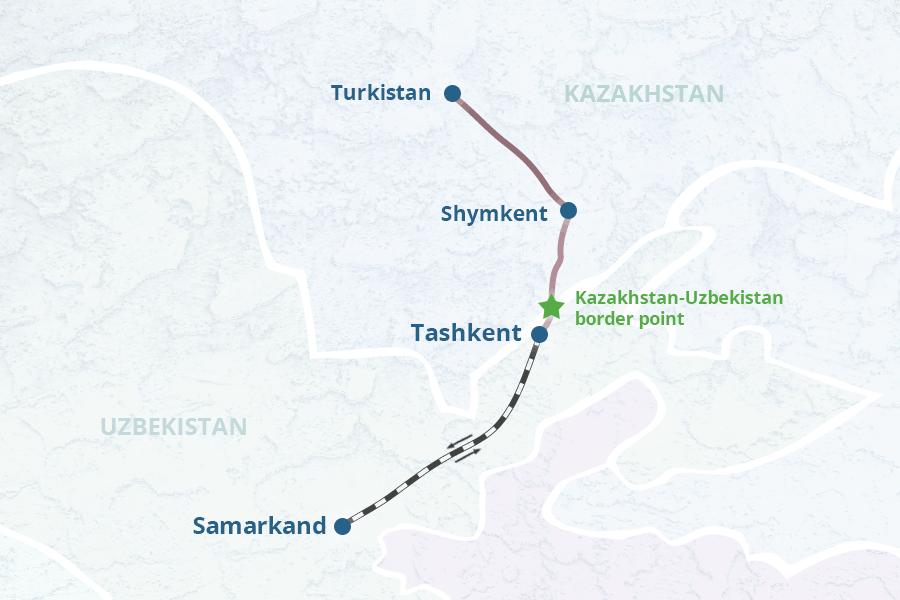 Tashkent and Samarkand Tour from Shymkent or Turkestan