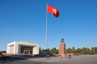 Independence square, Bishkek, Kyrgyzstan