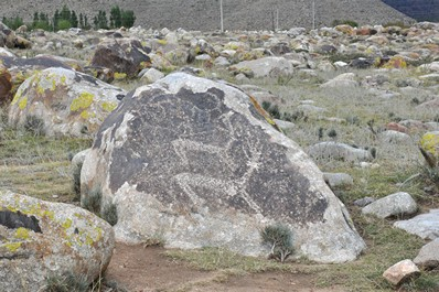 Петроглифы в Чолпон-Ате, Кыргызстан