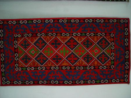 Kyrgyz Thick Felt Carpet Shyrdak