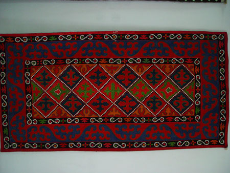 Kyrgyz Carpets A Traditional Kyrgyz Thick Felt Carpet Shyrdak