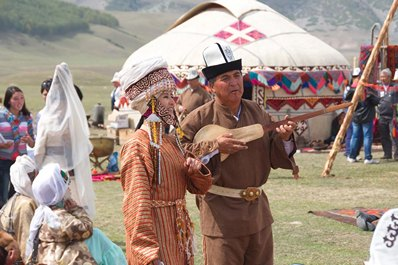 Traditional kyrgyz clothing