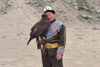 Hunting with eagles, Kyrgyzstan