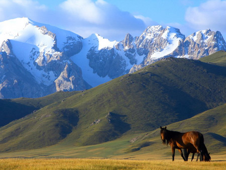 kyrgyzstan mountain ranges and peaks