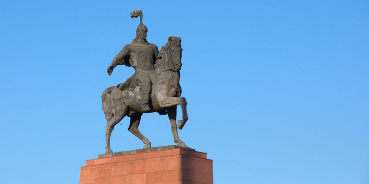 Manas monument in Bishkek