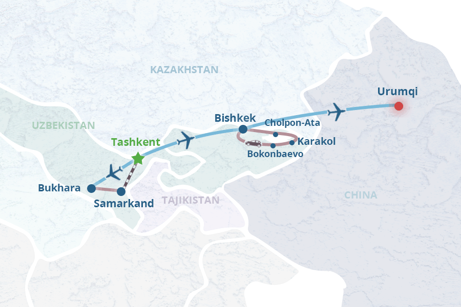 Silk Road Tour: Uzbekistan, Kyrgyzstan and China